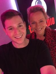 Josh with TV Veteran Daisy McAndrew on talkRADIO