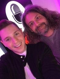 Josh presenting alongside Ash on 'The James Whale Show' on talkRADIO