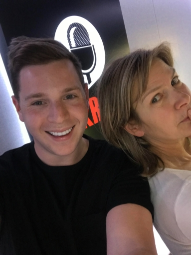 Josh on-air with Penny Smith