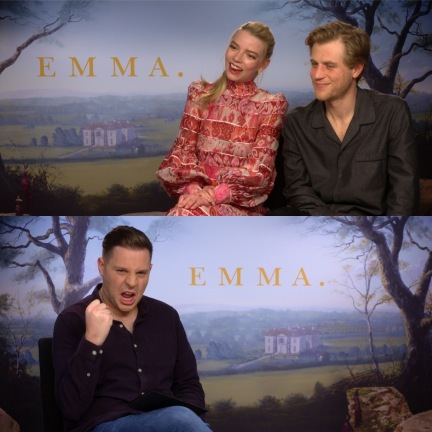 Fun times with Anya Taylor-Joy and Johnny Flynn for Emma