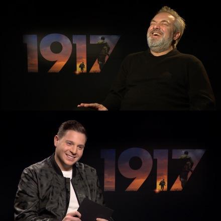 Interviewing Award winning director Sir Sam Mendes for '1917'