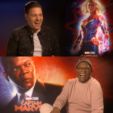 Interviewing Samuel L. Jackson for the release of Captain Marvel