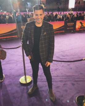 Walking the red carpet at the World Premiere of Bohemian Rhapsody