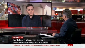 Discussing the report from Ofcom on the rise of streaming services during lockdown