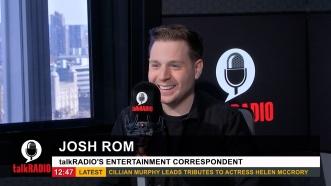 On-Air as talkRADIO's Entertainment Correspondent
